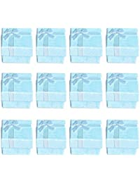 TOOGOO(R) 12pcs Blue Cube Jewelry Ring Earrings Bangle Gift Boxes Cutely Small Gift Box