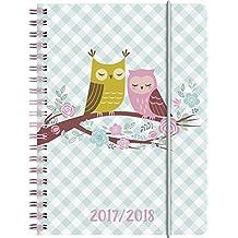 Brunnen 1072965038 Schülerkalender Eule (1 Woche in 2 Seiten, August 2017 bis Juli 2018)