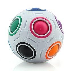Erstaunliche Fidget Spielzeug aus RESON! Zuerst verärgert den Ball und die entsprechende Farbe, und dann wiederherstellen, Die letzte Reduktion Struktur ist Regenbogen Kreis und Regenbogen Ball Farbe konsistent. Sie werden auf jeden Fall glückl...