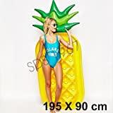 Giant Inflatable Pineapple, Pizza Slice ,Unicorn,Swan,Flamingo and Donut Swimming Pool Float Seat for Kids and Adults. (PINEAPPLE)