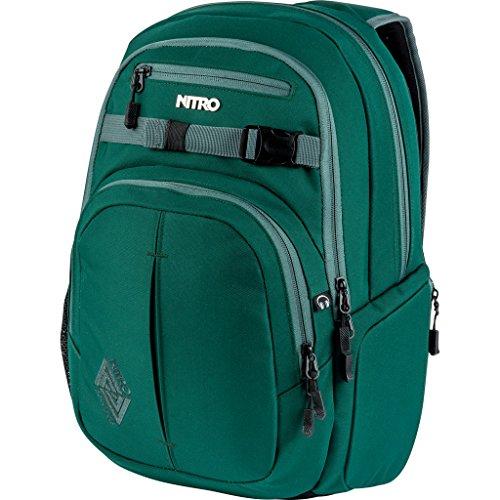Nitro Chase Rucksack, Schulrucksack mit Organizer, Schoolbag, Daypack mit 17 Zoll Laptopfach, Ponderosa
