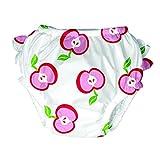 i Play. Schwimm- / Badewindel / Badewindel-Höschen 'Äpfel' weiß-rosa Gr. L = 12-18 Monate / 10 - 11,5 Kg