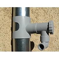 Récupérateur d'eau de pluie CAPT'EAU pour conduits circulaire (GRIS)