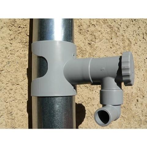 PACK Récupérateur d'eau de pluie CAPT'EAU pour conduits circulaire (GRIS) + FILTRO
