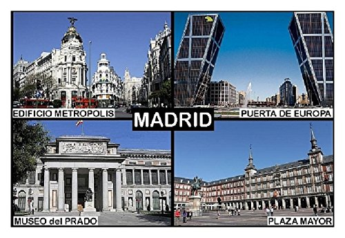 Kühlschrankmagnet - Souvenir - MADRID SPAIN 9cm x 6cm Jumbo (Magnet Madrid)