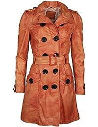 Suchergebnis auf Amazon.de für  Ledermantel Damen  Bekleidung 9905679a3a