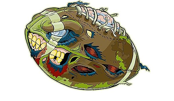Nfl American Football Zombie Ball Cartoon Hochwertigen Auto Autoaufkleber 12 X 10 Cm Küche Haushalt