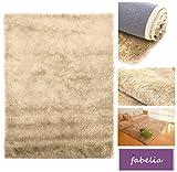 Hochflor Teppich Shaggy Gentle Luxus - Satin Luxury - Weich und Handgetuftet/In vielen bunten Farben (80 cm x 150 cm, Beige - Sahara/Desert Sand)