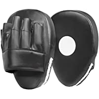 Lions Curved Focus Pads Hook & Jabs Gloves Punch Bag Mitts Boxing MMA Kick Training