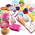 Kingdommax 12Pcs Soft Squishy Toys,Cute Phone Charms,Kawaii Bag Pendants,Slow Rising Stress Relief Toys Package