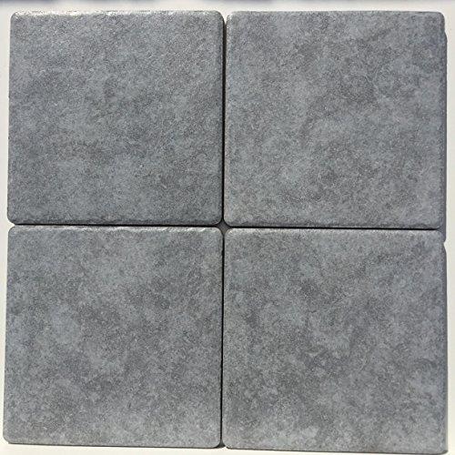 Baldosas Cerámica de porcelanato 15,2x 15,2grippato R9antideslizante para exterior y interior serie Tufo gris marca Granito Forte (prima elegir piezas caja N ° 35para M² 0,81Color Gris