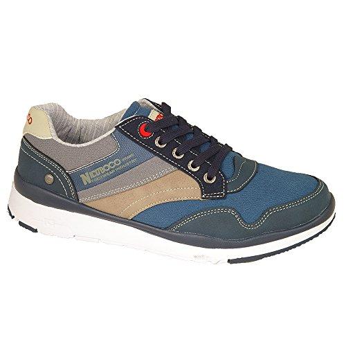 Zapatillas deportivas J'hayber hombre color blanco con velcro piel flor modelo olimpia Talla 42 ElPOi7
