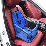 Zll Hund Autositz Haustier Auto Booster Sitz Haustier Hund Booster Autositz Tragbare und atmungsaktive Tasche Aufbewahrungspaket Perfekt für kleine und mittlere Haustiere,Blue