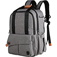 Ferlin Multi-function Baby Diaper Nappy Bags Backpack with Strong Straps, Fashion Grey Color Design with Anti-Water Material for Both Mom & Dad (Gray-0723)
