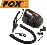 Fox Rechargeable Air Pump / Deflator Akku Elektroluftpumpe, Pumpe für Schlauchboot, Bootspumpe, Luftpumpe für Angelboot 12V / 240V