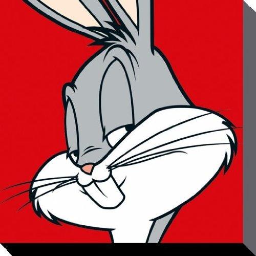 bugs-bunny-looney-tunes-canvas-prints-poliestere-multicolore-40-x-40-cm