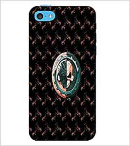 PrintDhaba Skull D-4731 Back Case Cover for APPLE IPHONE 5C (Multi-Coloured)