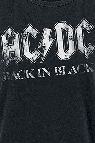 AC/DC Back In Black Girl-Top schwarz Schwarz