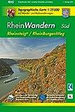 RheinWandern Süd (WR): Topographische Karte 1:25000 mit Wander- und Radwanderwegen mit dem Rheinsteig von Wiesbaden bis Koblenz und dem RheinBurgenWeg ... Rheinland-Pfalz 1:15000 /1:25000)