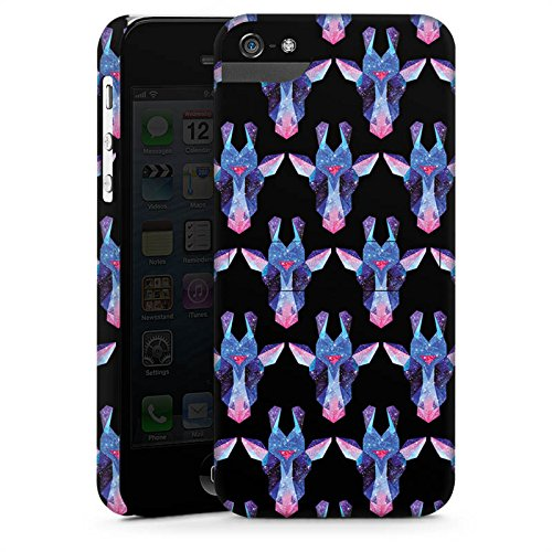 Apple iPhone X Silikon Hülle Case Schutzhülle Space Giraffe Galaxy Muster Premium Case StandUp