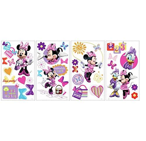 Hochwertiger Wandtattoo Tattoo Wand Tattoo - Minnie Mouse - Minnie Maus - Daisy Duck - künstlerisch mit außergewöhnlichem Design macht die Wand zu einen echten Blickfang