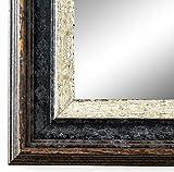 Online Galerie Bingold Wandspiegel Spiegel Badspiegel - Trento 5,4 - Schwarz Silber - 70 x 140 - Außenmaß inkl. Massivholz-Rahmen - viele Größen verfügbar - Modern, Barock, Antik, Vintage