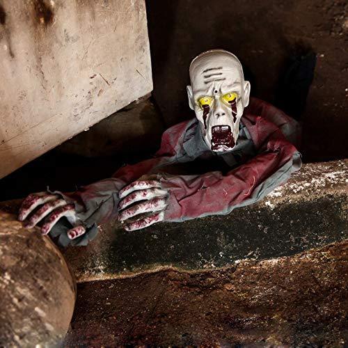 Haunted Doll Bewegender Körper, Gruselige Friedhofs Heulen, Elektronisches Krabbel Licht Sensored, Skelett Blutig Gehakt, Batteriebetrieben, 100 * 25 cm
