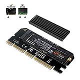 6amLifestyle M2 NVME PCIe Adapter Adattatore per SSD x16 PCI Express 3.0 con Alluminio Dissipatore di Calore Supporto PCIe x4 x8 x16 Slot Adatta M.2 PCIe Nvme M Key SSD 2230 2242 2260 2260 2280