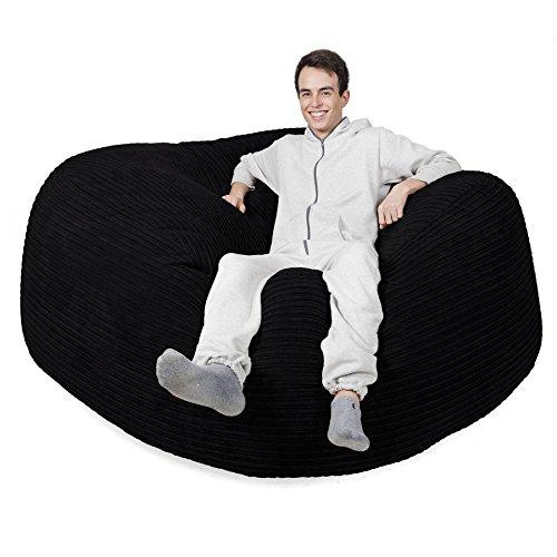 Lounge pug®, pouf sacco gigante xxxl 'mega mammut', corda classica - nero