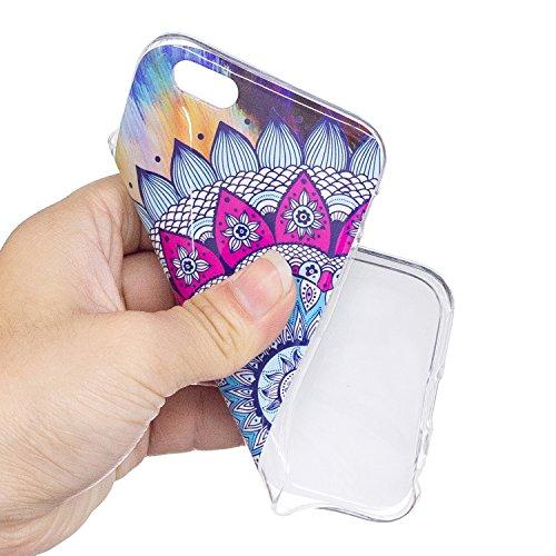 Custodia iPhone 6 Plus / iPhone 6s Plus Cover Silicone , YIGA Unicorno Blu Moda Nottilucenti Luminoso Trasparente Silicone Morbido TPU Case Custodia per Apple iPhone 6 Plus / iPhone 6s Plus (5.5) YG-XS88