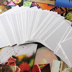 220 Blank White Shimmer Flash Cards [Dyslexia Friendly Finish] 51x90mm