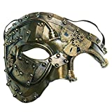 Máscara de disfraces Steampunk Phantom Of The Opera Máscara de fiesta veneciana mecánica