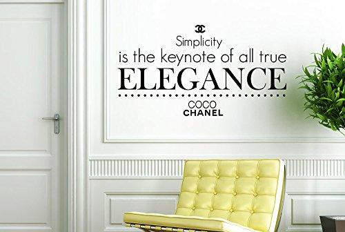 CUT IT OUT CO CO Chanel Simplicity ist der Keynote von alle True Elegance Wall Sticker Art Aufkleber-Groß (Höhe 57cm x Breite 105cm) schwarz