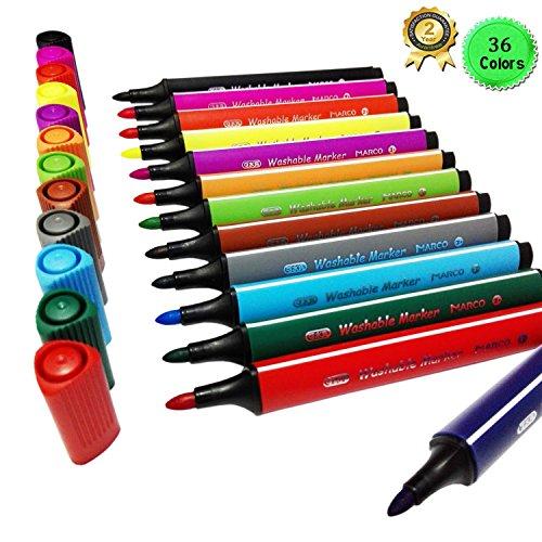 magicdor-36-colori-pennarelli-lavabili-design-triangolare-acquerello-penna-vernice-pennarello-sicuro