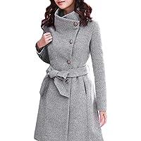 Geili Damen Wolle Mantel Normale Form Lange Tweed Mantel mit Reverskragen Frauen Elegante Übergrößen Warme Knöpfen... preisvergleich bei billige-tabletten.eu