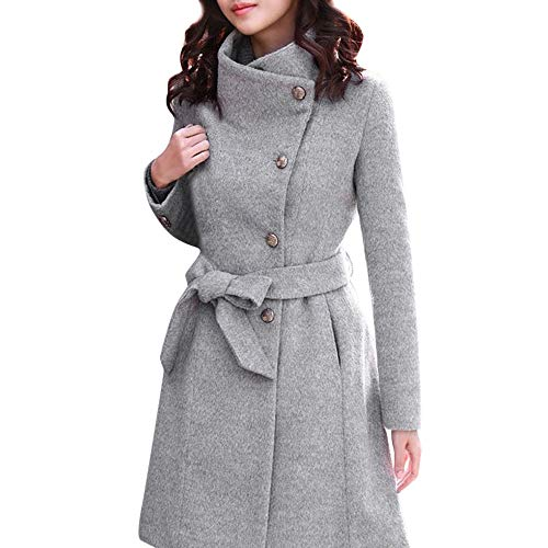 NPRADLA 2018 Herbst Mantel Damen Winter Lang Elegant Festlich Frauen Wollmantel Trench Jacke Outwear...