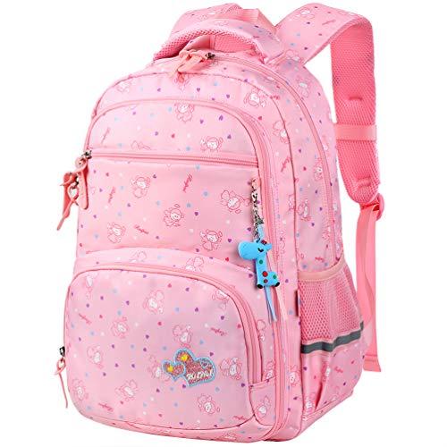 Vbiger Zaino per bambini Borsa da scuola adorabile All'aperto Casual Daypack per gli studenti delle scuole elementari (Rosa 3)
