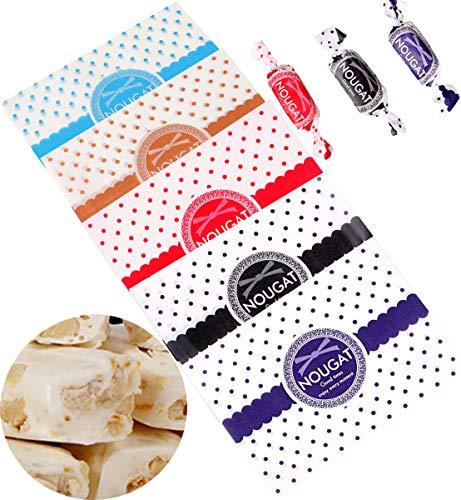 Liuer 500 Stück Bonbonpapier Süßigkeitspapier Verpackungspapier,Wachspapier Pergamentpapier Backpapier für Partys Hochzeiten feiern Geschenktüten und Süßigkeiten(9 x 12,5 cm)