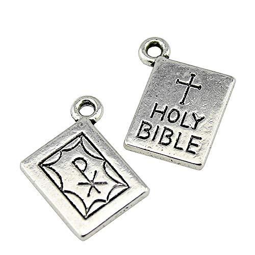(NEWME 30 stücke 17x14mm holi bibel Charms Anhänger Für DIY Schmuck Machen Großhandel Handwerk Handgemachtes Armband Halskette Schlüsselanhänger Tasche Zubehör)