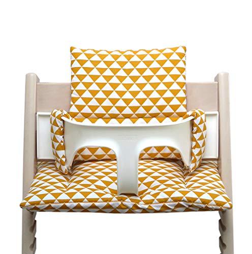 Blausberg Baby *41 couleurs* coussin set de siège pour chaise haute Stokke Tripp Trapp tous les matériaux sont certifiés OEKO-TEX® Standard 100 - 100% made in Hamburg (Triangle Jaune)