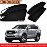 #9: Autofact Magnetic Window Sunshades / Curtains for Ford Endeavour New Model [Set of 6pc - Front 2pc With Zipper ; Rear 2pc Without Zipper ; Baby Seat 2pc Fix type Without Zipper & Without Magnet] (Black)