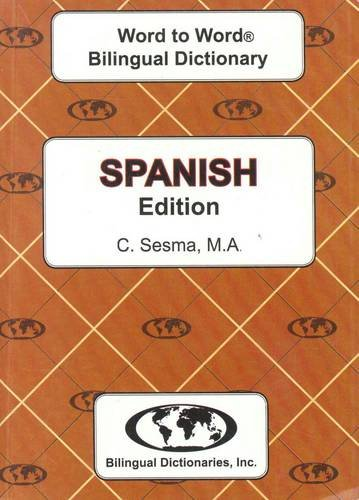 English-Spanish & Spanish-English Word-to-Word Dictionary por C. Sesma