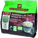 Ethiquable Café Amérique du Sud/Afrique Bio et Equitable 18 Dosettes Max Havelaar - Lot de 5