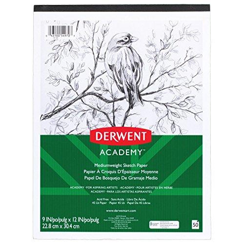 Derwent Academy Skizzenblock, mittel Gewicht Papier, 50Blatt, 22,9x 30,5cm (54970)