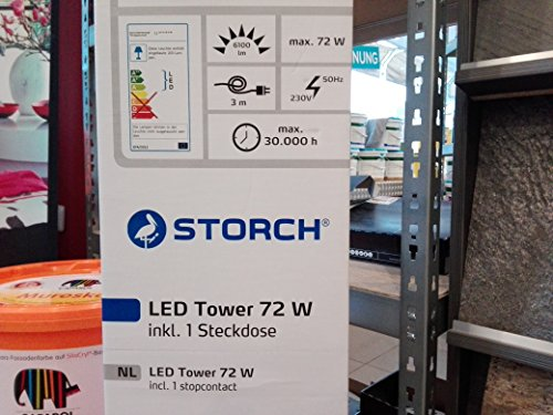 LED Tower Storch mit Steckdose