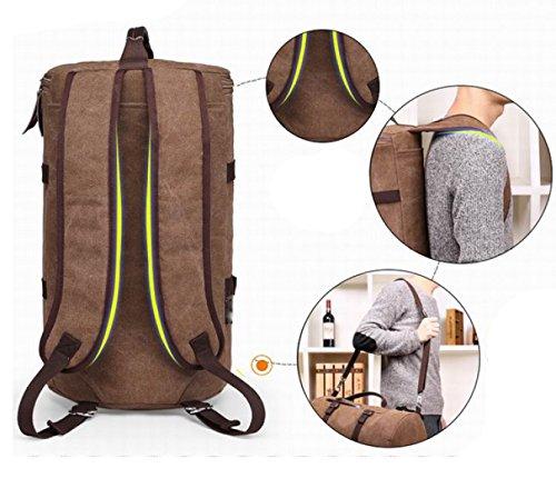 LAIDAYE Außentaschen Reisetaschen Einkaufstaschen Bulk Taschen Handtaschen Schultertaschen Messenger Bags Sporttaschen Brown