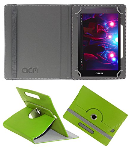 Acm Rotating 360° Leather Flip Case for Asus Fonepad 7 Fe170cg Cover Stand Green  available at amazon for Rs.149