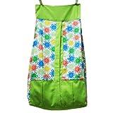 Kadambaby - Diaper Stacker - green Flowery Print