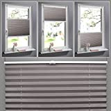 Shiny Home PVC Elegant Pleated Shades Venetian Window Blinds Trimmable Home Office Blind Curtains - Coffee 100cm x 130cm