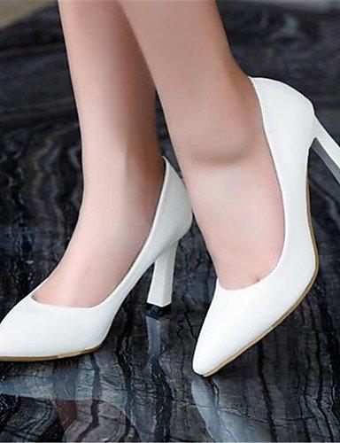 WSS 2016 Chaussures Femme-Décontracté-Noir / Blanc / Amande-Gros Talon-Talons-Chaussures à Talons-Polyuréthane almond-us8 / eu39 / uk6 / cn39